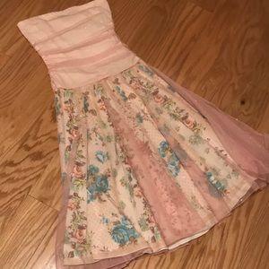 Glitter & Gauzy Floral Prom / Homecoming Dress